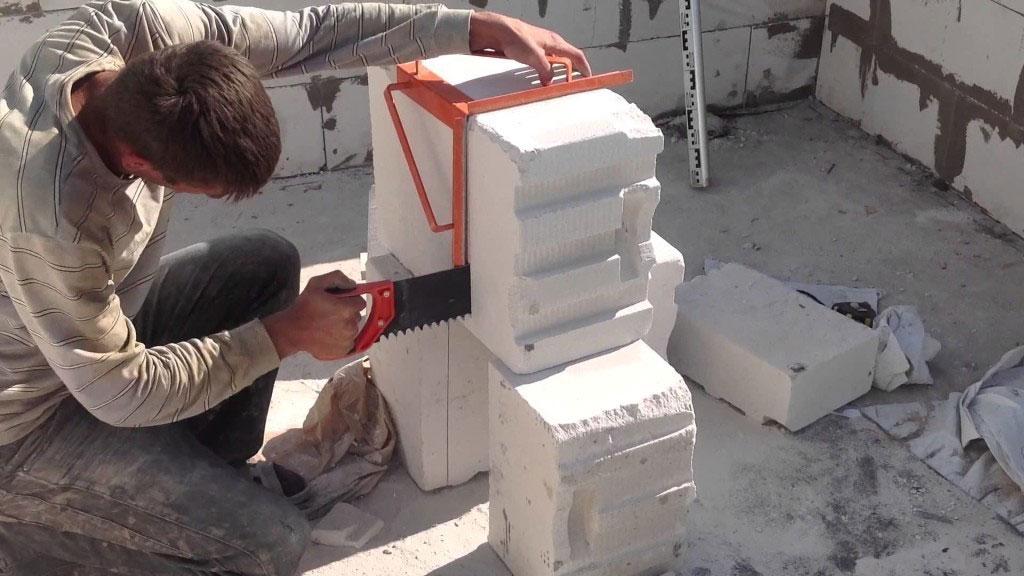 чем пилить газобетонные блоки